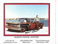 Marvin Panch #20 1960 Pontiac Signed Hero Card