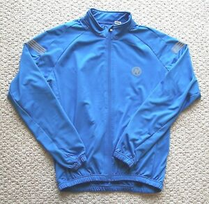 Mens Nashbar Blue Cycling Jersey Full Zip Size L