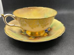 Paragon Hand Painted Porcelain Cup and Saucer #391
