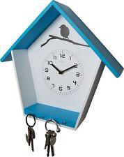Reloj de Pared Moderno Uhr Vestíbulo Pasillo Madera Blanco con Llavero