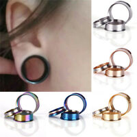 Stainless Steel Screw Ear Gauges Flesh Tunnels Plugs Stretchers Expander JT