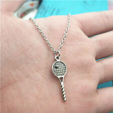 New tennis racket silver Necklace pendants fashion jewelry accessory,creative