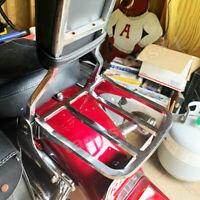 Chrome Sport Luggage Rack Fit Harley Sportster Dyna Softail Detach Sissy Bar