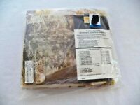 NEW Vintage Montgomery Ward Style House Straw Flowers Pillow Sham