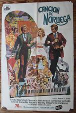 Used - Cartel de Cine   CANCION DE NORUEGA  Vintage Movie Film Poster - Usado