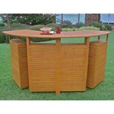 International Caravan TT-BR-001 Royal Tahiti Outdoor Wood Fold Out Bar NEW