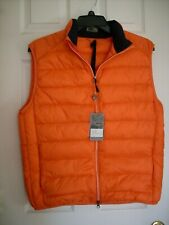 NWT FENNEC Golf Nylon Ridgefield Full Zip Down/Feather VEST size L color Orange