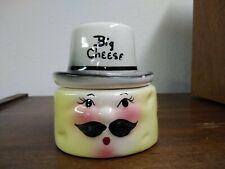 DeForest of California Pottery Big Cheese Condiment Jar Retro 1950s
