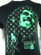Rootslife Bob Marley Keepin It Irie Black Graphic Print Cotton T Shirt Small
