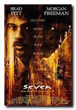 Se7en (Seven) Movie Poster 24x36 Inch Wall Art Portrait Print -Brad Pitt