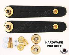 Accordion Bellow Straps Black Pair w/ Golden Hardware Balghalter, Balgriemen