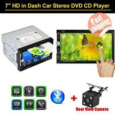 "Double 2Din 7"" HD Car DVD Player CD Bluetooth AUX IN USB/TF FM Radio TV +Camera"