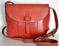 Lucky Brand Dylon Leather Messenger Crossbody Bag Ruby Red NWT