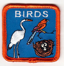 """BIRDS"" - Iron On Embroidered Patch -  Animals, Birds, Owls, Bats, Parrot,"