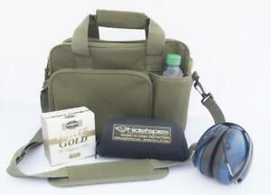 GREEN CLAY PIGEON SHOOTING OR RIFLE TARGET AMMO STORAGE CARRY RANGE BAG