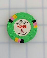 Rare Riviera $25 Baccarat, Green, Las Vegas Casino Chip 1992