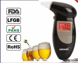 Digital LCD Police Breath Breathalyzer Test Alcohol Tester Analyzer Detector UK