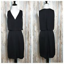 Madewell 0 Rare Black V Neck Luminous Overlay Dress Knee Length Party Cocktail