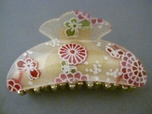 Very Pretty Hair Clip w Japanese Pattern (MADE IN JAPAN) NEW