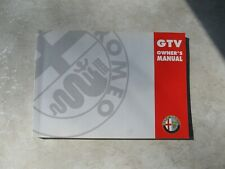 Alfa Romeo Owner's Manual Gtv Model 916