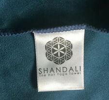 "Shandali Blue Hot Yoga Travel Towel 24"" x 48"" Microfiber Fast Drying Absorbent"