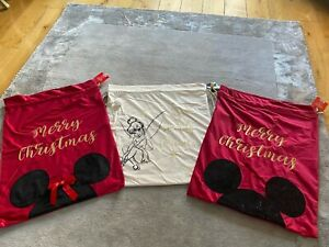 LUXURY DISNEY CHRISTMAS SACKS MICKEY MOUSE MINNIE MOUSE TINKERBELL CHRISTMAS STO