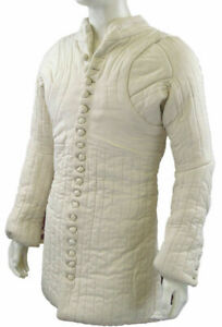 Medieval Gambeson Thick Padded Quilted Theater Costumes Suit Of Armor Larp Sca