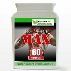 60 Pre Xtreme Max Anabolic Hardcore Muscle Pump Increase Size & Strength