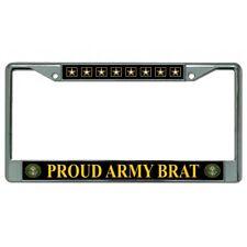 proud army brat logo seal emblem military license plate frame usa made