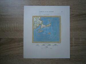 1892 Perron map CAPE COD, MASSACHUSETTS (#37)