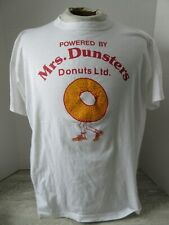 Old Vintage Powered by Mrs.Dunsters Donuts T-Shirt Penman's Size Xl