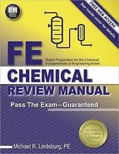 Fe Chemical Review Manual by Michael Lindeburg. PASS THE EXAM 2016 Textbook Book