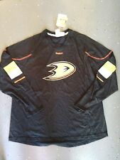 Anaheim Ducks NEW Mens XLarge Jersey L/S Shirt NHL Hockey Reebok Fan Tee NWT XL