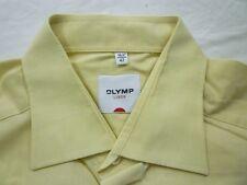 E7880 Olymp Luxor Businesshemd Kombimanschette 42 gelb meliert Unifarben Neuw.