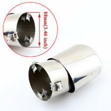 3.5 Inch 88mm Caliber Auto Parts Rear Silencer Cover Exhaust Tail Tips Tailpipe