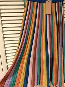 "New! Pretty GORMAN ""Rainbow"" Pleated Knit skirt *  Size 8"