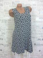 Sommerkleid Strand Kleid Tunika A-Form Blumen Print IBIZA 42 44 46 Blau E528