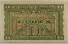 Austria  P-106 ... 10 Shillings ... 1944 ... Choice VF