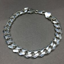 NEW 11mm Mens Curb Cuban Link Chain Bracelet 925 Sterling Silver 31GR 7.48 Inch
