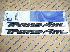2 Pontiac Firebird Trans AM Door Emblem Gloss Black OEM Genuine GM 1993-2002