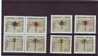 GERMANY - SG2397-2404 MNH 1991 DRAGONFLIES