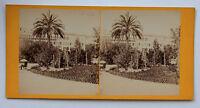 Nice Francia Costa Azzurra Foto Stereo di Carta Albume D'Uovo Vintage Ca 1875