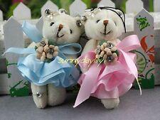 2pc Snow gauze skirt diamond Tactic Winnie,cartoon bouquet doll bear cubs