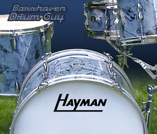 Hayman, Vintage, Repro Logo - Adhesive Vinyl Decal, for Bass Drum Reso Head