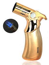 "4.5"" ZICO Premium Quality Quadruple Refillable Torch Lighter Easy Soft Ignition"