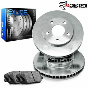 For Ramcharger,Trailduster,W100,W150 Front Plain Brake Rotors+Ceramic Pads