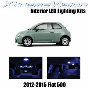 XtremeVision Interior LED for Fiat 500 2012-2015 (3 pieces) Blue