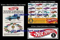 Hot Wheels Redline 1968 Set of 3 high quality Posters Adverts Shop Sign Flyer