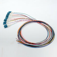 10pcs 1M 12 Core fiber LC/UPC 9/125 Single-mode Fiber Optical Pigtail Cable PVC