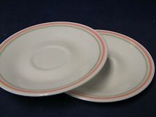Corelle by Corning - Two x Saucers in Peach Floral finish